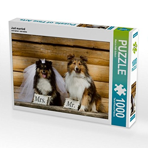 Just married 1000 Teile Puzzle quer (CALVENDO Tiere) Preisvergleich