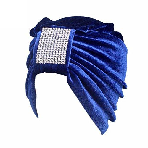 Cappello da Donna Boho Cancer,Yanhoo Berretto a Cuffia con Visiera a Turbante Blu