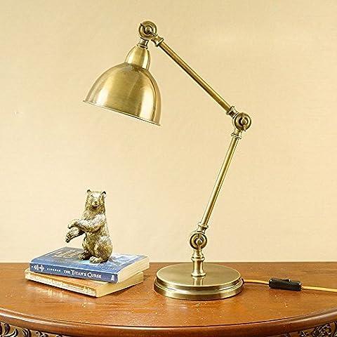 SJQKA-American brass table lamps, vintage study desk lamp, telescopic adjusting