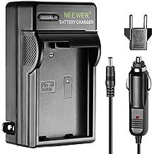 Neewer LED Cargador de Batería para Nikon EN-EL15 con Adaptador Cargador de Coche de Enchufe EE.UU. Adaptador Enchufe UE, Compartible para Nikon D600 D610 D7000 D7100 D750 D800 D800S D800E D810 DSLR MB-D11 MB-D12 MB-D14 MB-D15 MB-D16 Grip