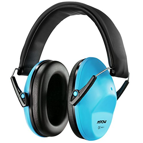 Mpow Casque Antibruit Enfant Adulte Pliable SNR 34dB, Casque Anti-Bruit Reglable a Reduire du Bruit, Cache-Oreilles de la Reduction de Bruit a Protection Auditive pour Enfant et Adulte (1-Bleu)