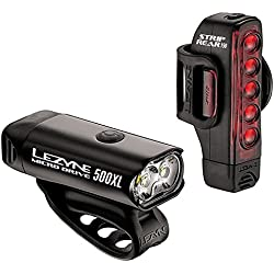 Lezyne Micro Drive 500XL Luz Led Delantera y Trasera, Negro, Talla Única