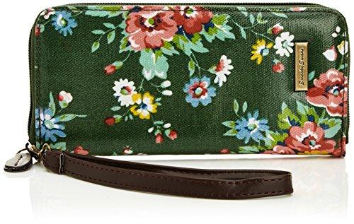 Swankyswans Classic Floral Print Zip Wallet, Damen Geldbörsen, Grün - dunkelgrün - Größe: One Size -