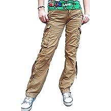 d8e930c8301a Urbanboutique Femmes Combat Désinvolte Cargaison Six Poche Coton Militaire Pantalon  Jeans