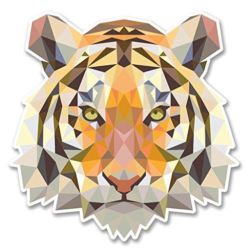 DestinationVinyl 2 x 10cm/100mm Tiger Löwe Cat Vinyl Selbstklebende Sticker Aufkleber Laptop Reisen Gepäckwagen Cool Zeichen Spaß #6222 Tiger Aufkleber