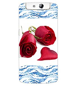ColourCraft Beautiful Roses Design Back Case Cover for OPPO N1