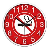 Reloj de Pared Reloj de Sala Reloj de Pared Sala de Tarjeta de ajedrez Reloj de Pared rápido, 12 Pulgadas, Marco Negro con Aguja Negra