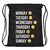 ocona© Emoji Emoticons Smileys Turnbeutel Rucksack Gymsack Stringbag Week