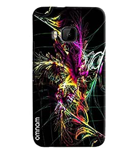 Omnam Colorful Feather Printed Printed Designer Back Cover Case For HTC One M9