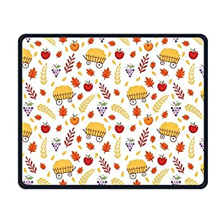Harvest Season Pattern Office Rectangle Non-Slip Rubber Mouse Pad Cool Gaming Mouse Pad for Laptop Displays Tablet Keyboard