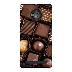 Sweet Choco Pack Back Case Cover for Yu Yuphoria