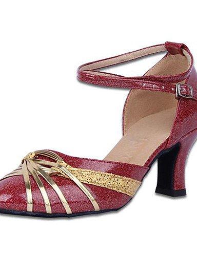 La mode moderne Non Sandales Chaussures de danse pour femmes personnalisables en cuir Cuir /latine Chaussures de Talon pratique moderne US9.5-10 / EU41 / UK7.5-8 / CN42