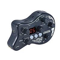 ammoon PockRock Guitar Effect Pedal Multi-effects Processor 5 effect modules 15 Effect Types 40 Drum Rhythms Tuning Function with Power Adapter (Dark Grey)