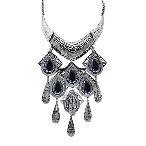 Epinki Damen Vergoldet Halskette, Damenkette Statementkette Choker YHawaiikette Stammes Metall Dag Tag (Haar Alien Kostüm)