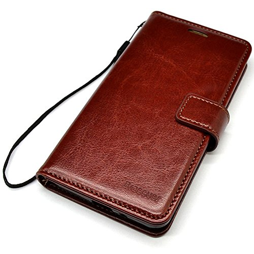 Bracevor Samsung Galaxy A8+/A8 Plus Flip Cover Leather Case : Inner TPU, Premium Leather Wallet Stand - Executive Brown