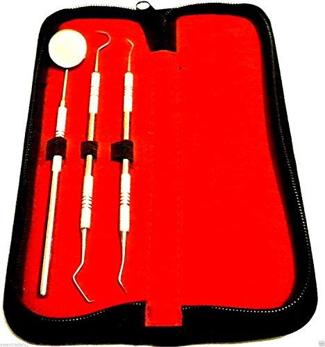 3 Stück Dental Hegene Kit mit Lagerung Geldbeutel (Plaque-entfernung)