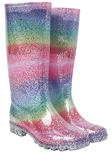 Nicky Adams Ladies Ex Store Glitter Wellies 100% Waterproof Ex Store Item Size 3 to 8 Sparkle Wellington Boots