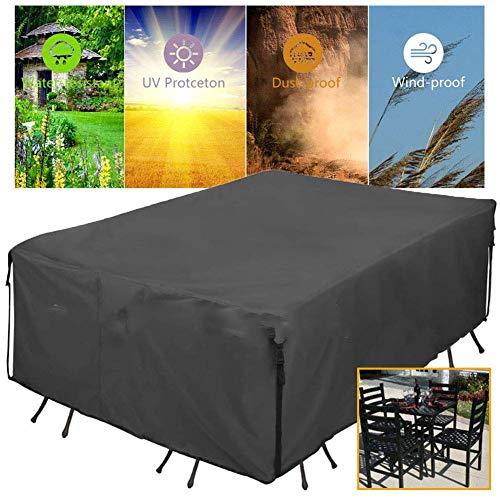 AYUE® Gartenmöbel-Set Abdeckung, 600D Oxford Stoff wasserdicht Schutzhülle, für Terrasse Tisch und Stühle, Anti-Verblassen, Möbel Schutzhülle -