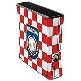 label pepper selbstklebende Designfolie Skin für XBox 360 slim 250 GB - Fan Artikel Fußball Kroatien - Hrvatska