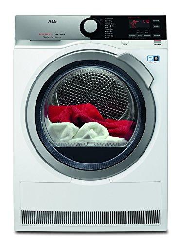 AEG T8DE76585 Wäschetrockner Frontlader / Energieklasse A++ (235 kWh pro Jahr) / 8 kg / kein Einlaufen der Wäsche / Kondenstrockner mit Wärmepumpe / effizienter Wärmepumpentrockner / weiß