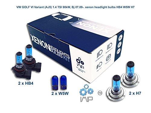 IMIP - VW GOLF VI Variant (AJ5) 1.4 TSI | Xenon Scheinwerfer Glühlampen Super Weiß HB4 W5W H7