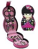 Aibearty adorabile bambola russa modello per unghie, set da pezzi, professionale Grooming kit, nail Tools con cesto custodia da viaggio taglia unica Pink