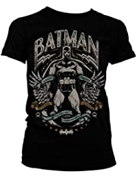Batman Dark Knight Crusader Mujeres camiseta de (Black)