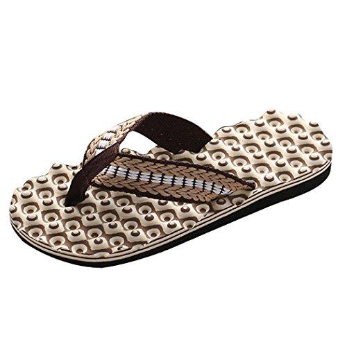 hunpta Chaussures Basses Pour Homme Marron