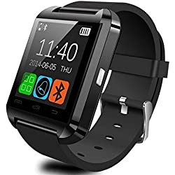 OPTA SW-001 Black Bluetooth Smart Watch Phone Touch Screen Multilanguage Android/IOS Mobile Phone Wrist Watch Phone Mate compatible with Samsung IPhone HTC Intex Vivo Mi One Plus and many others! Launch Offer!!
