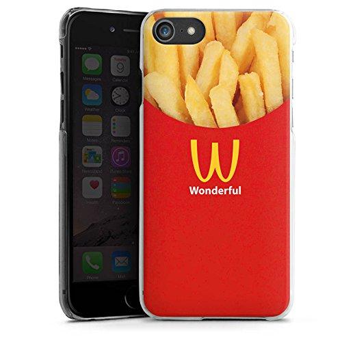 Apple iPhone X Silikon Hülle Case Schutzhülle Pommes Fast Food Frenchfries Hard Case transparent