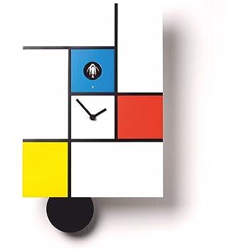 Diamantini & Domeniconi Orologio Da Muro Mondrian Bianco/Multicolore