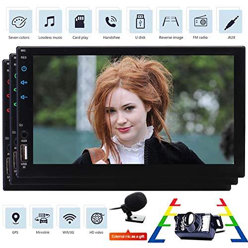 EINCAR Quad-Core-Doppel-DIN-kapazitive Muti-Touch Screen In Dash Android 6.0 Auto-Stereo GPS Head Unit Auto Autoradio FM RDS-Radioempf?nger Auto GPS-Navigation mit Bluetooth USB/SD + Back-up-Kamera (Handy-back-up-kamera)
