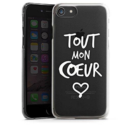 Apple iPhone 6 Silikon Hülle Case Schutzhülle Tout mon coeur Liebe Herz Hard Case transparent