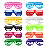 Hicarer 12 Pairs Shutter Shade Glasses for Party Cosplay Costume Photo Props, 12 Colors