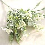 GSYLOL Orchidea Artificiale Floccaggio Fiori Bouquet Di Seta Plush Lily Composizioni floreali Per La Casa Festa Ufficio Decorazione ghirlanda di nozze, Bianco
