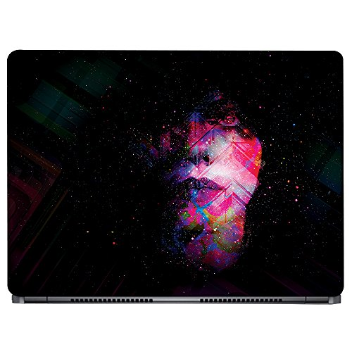 Crazyink Face Abstract Galaxy Art Laptop Skin (16 to 17 inch)