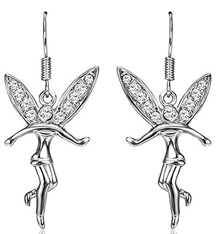 SaySureFR - Gold Plated Fashion Drop Earrings Austrian Crystal SWA Elements