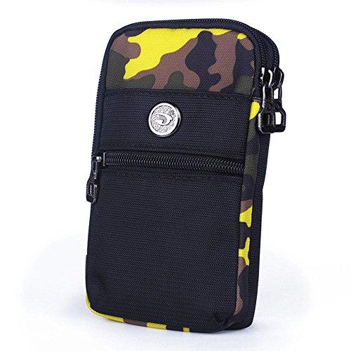 BUSL Wandern Hüfttaschen Außentaschen Handy-Paket 6-Zoll-Multi-Funktions-Reise Schulter Messenger Bag Taschen weiblich Sport D