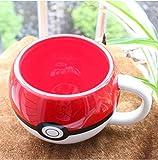 HJLHFD Tasses en céramique, Tasse à café Pokemon Pikachu, Tasse à café Tasse à thé pour Cadeau Surprise garçon Coupe Rouge Drinkware 320Ml