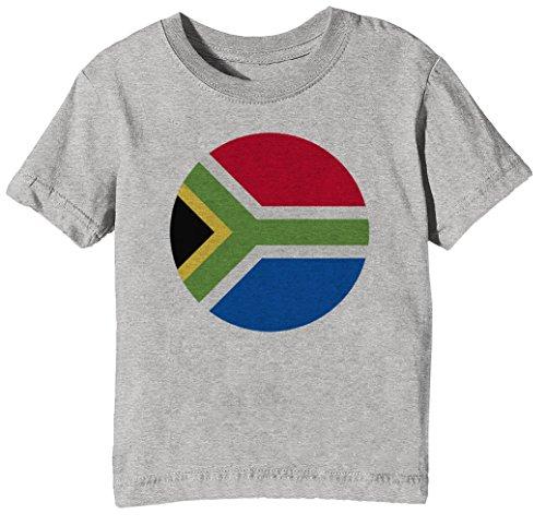 Süd Afrika National Flagge Kinder Unisex Jungen Mädchen T-Shirt Rundhals Grau Kurzarm Größe XL Kids Boys Girls Grey X-Large Size XL (Flagge T-shirt Süd-afrika)