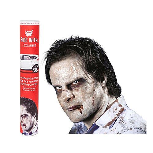 """Preisvergleich Produktbild Ride With - """"Zombie"""" Fenstersticker - eine thumbs UP! 30, 5 x 30 x 0, 1 cm"""