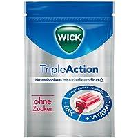 WICK TripleAction Menthol & Cassis o.Zucker Bon. 72 g Bonbons preisvergleich bei billige-tabletten.eu
