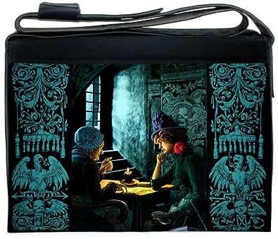 "Baba Studio. ""The Tarot Reading"". Bohemian Gothic 15.4 inch laptop bag. Black"