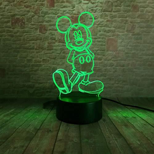 ZNNYE 3D Nachtlichter Kinderheim Verkauf Cartoon Mädchen Mickey Boy Maus Maus Led Farbverlauf Nachtlicht Usb Touch Led Stimmungslicht Kind Baby Weihnachten Spielzeug Geschenk