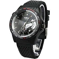 Man, mechanical watch, automatic, fashion, casual, Silica gel, M0258