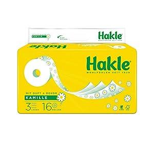 """Hakle Toilettenpapier """"Natürlich Pflegend mit Kamille und Aloe Vera"""" 3-lagig, 1er Pack"""