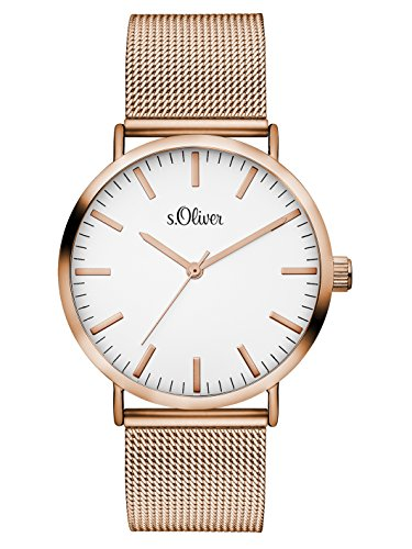 S.Oliver Damen Analog Quarz Armbanduhr SO-3146-MQ