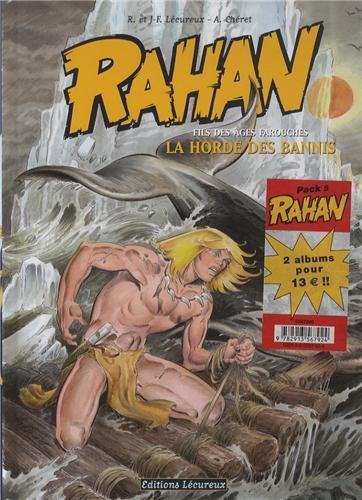 Rahan : Pack 2 volumes : Tome 9, La horde des bannis ; Tome 10, La légende de la grotte de Niaux