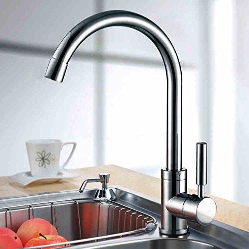 SUN LL Rubinetto rubinetti della cucina verdure bacino acqua calda e fredda tutto il rame corpo valvola può essere ruotato lavandino