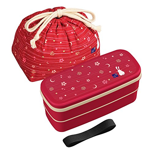 osk-tsukihana-conejo-rojo-2-pisos-almuerzo-bento-box-con-palillos-y-bolsa
